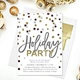 Polka Dot Holiday Party Invitation