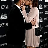 The Two Shared a Sweet Smooch on the Red Carpet During NYFW