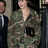 She Styled It With a Black Newsboy Hat and Small Dior Crossbody