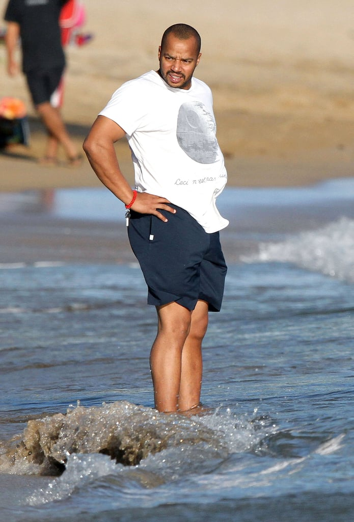 Donald Faison walked into the ocean in Maui.