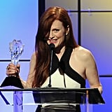 Julianne Moore received an award at the Critics' Choice Television Awards in LA.