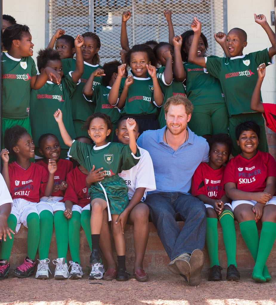 Prince Harry Plays Football With Kids in South Africa