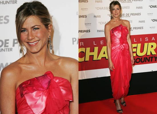 Photos of Jennifer Aniston in Christian Lacroix at The Bounty Hunter Premiere in Paris