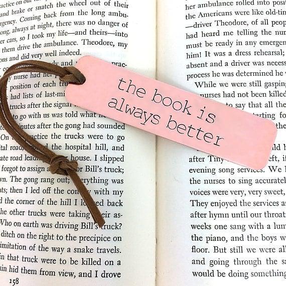 Because bookmarks speak volumes.