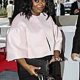 Octavia Spencer looked pretty in pink.