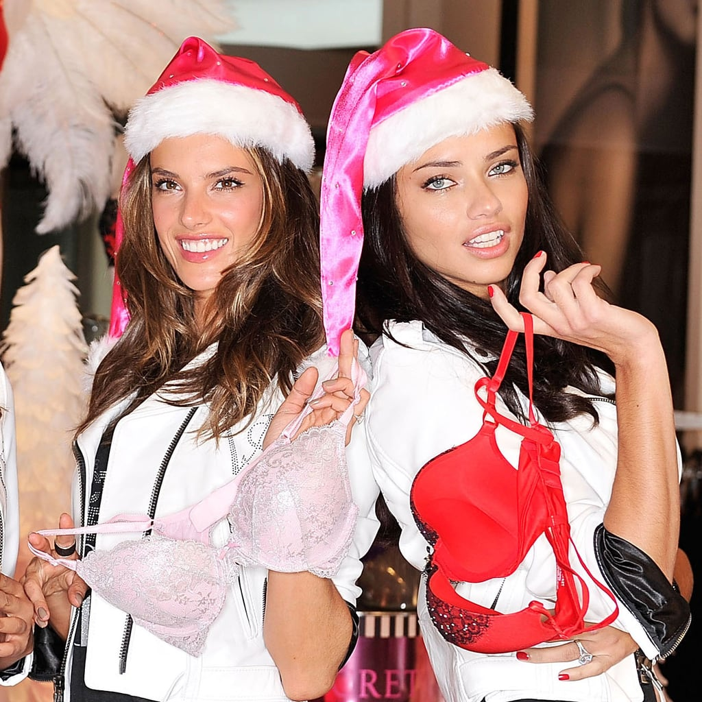 Adriana Lima and Alessandra Ambrosio Posing For VS Pictures