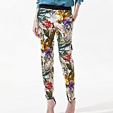 """It's no secret that printed trousers are everywhere this season. My personal favorites are these tropical print pants from Zara. I'd dress them down for day with chambray or style them up for a night out with a silky black peplum top."" — Allison McNamara, FabTV host and producer  Zara Floral Printed Trousers ($80)"
