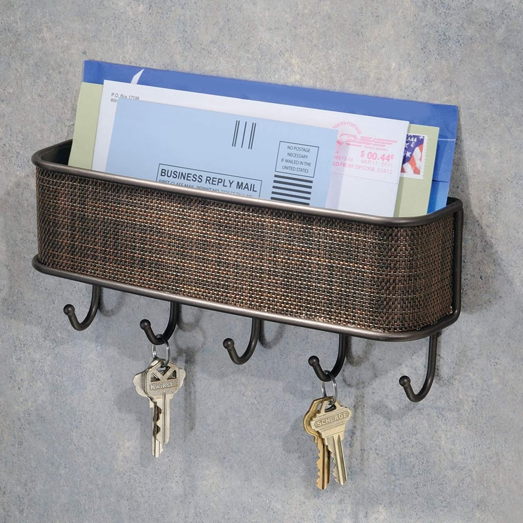 InterDesign Twillo Mail Wall Key Rack Organizer