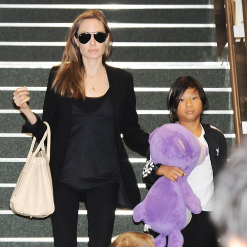 Angelina Jolie Spotted at Sydney Airport, Australia