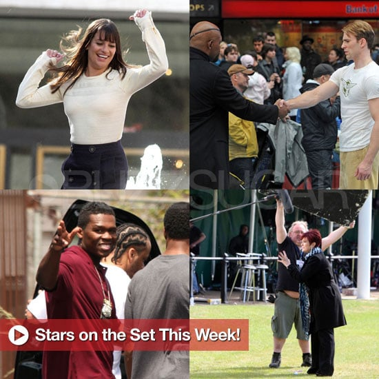 Pictures of Celebrities on TV and Movie Sets