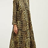 Ganni Bijou Leopard-Print Cotton Midi Dress ($348)