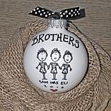 Hand-Drawn Siblings Ornaments