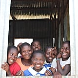 """""""We always saw your cars driving past, and wondered when you would stop and help our school."""" The next school was Kensekka, which used to be operated under a tree. Like Kasomolo, Kensekka will offer 500 places and will be finished in May 2018. The school here was a little further along than Kasomolo — almost ready to be used. I could imagine how encouraging it would be for the teachers, parents and student (all of whom were there to greet us) seeing the progression each day, knowing they would soon have all these new facilities. Rachel (the trip mum) told me that when Cotton On Foundation partnered with Kensekka, one of the teachers said, """"We always saw your cars driving past, and wondered when you would stop and help our school."""" Those 4WD are conspicuous."""