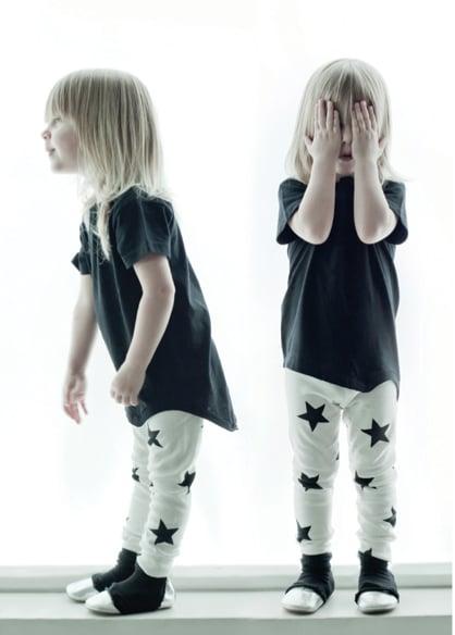 Black Tunic and Star Print Leggings