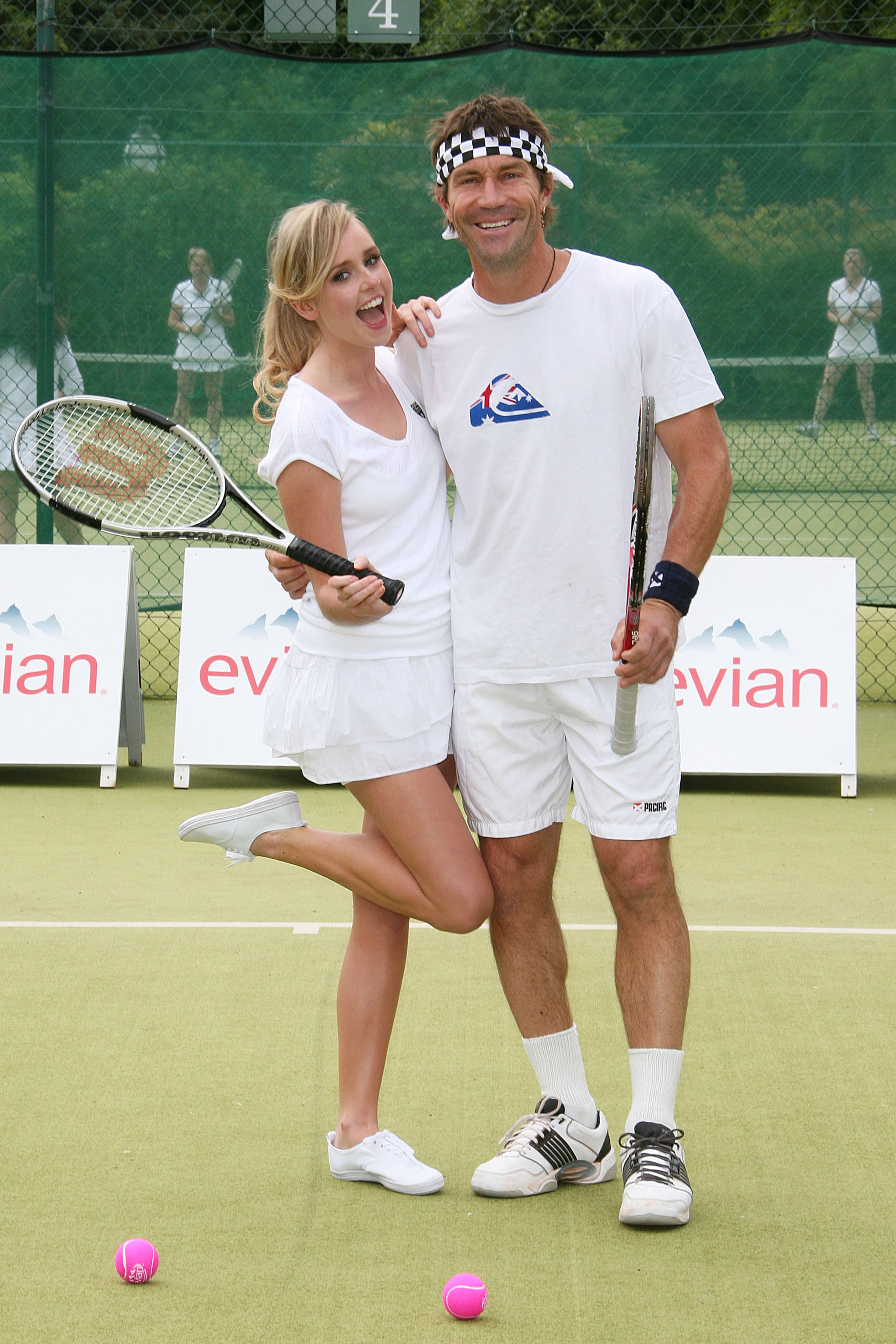of Diana Vickers Getting a Tennis Lesson at Wimbledon