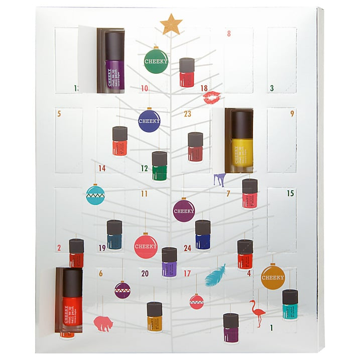 The Cheeky Nail Polish Advent Calendar (£49) This contains 24 5 ml ...