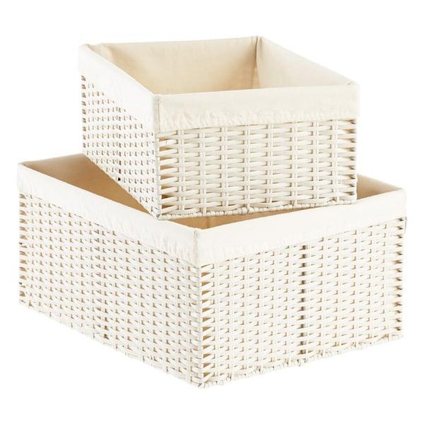 Pantry: Woven Rectangular Storage Bins