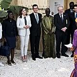 Queen Letizia Wearing All White