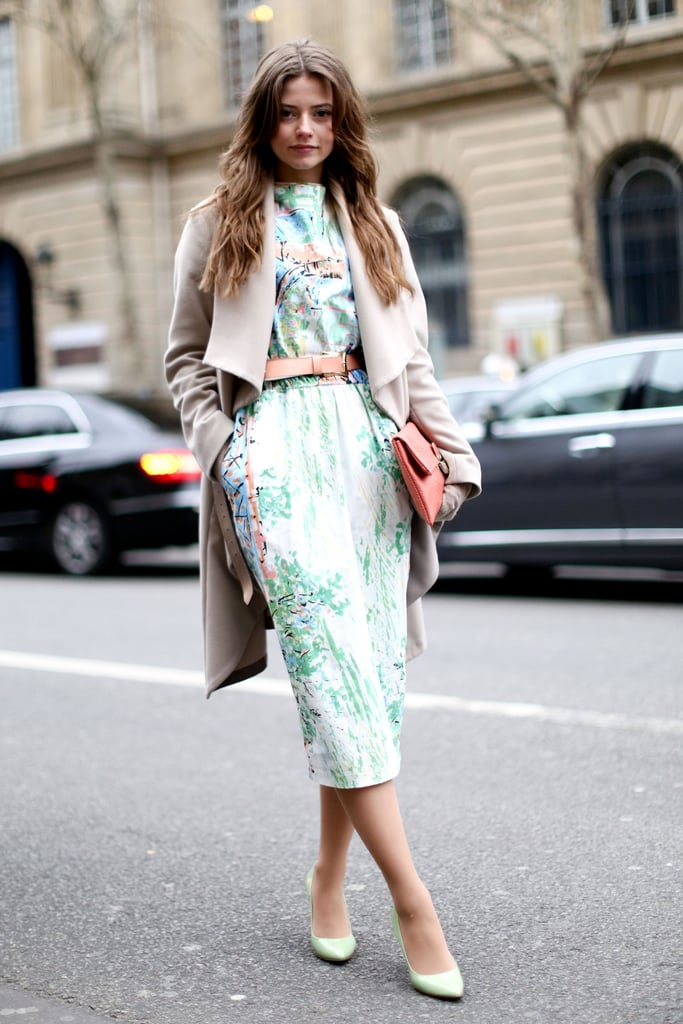 A sophisticated nod to Spring with soft prints and a camel coat to top it all off.