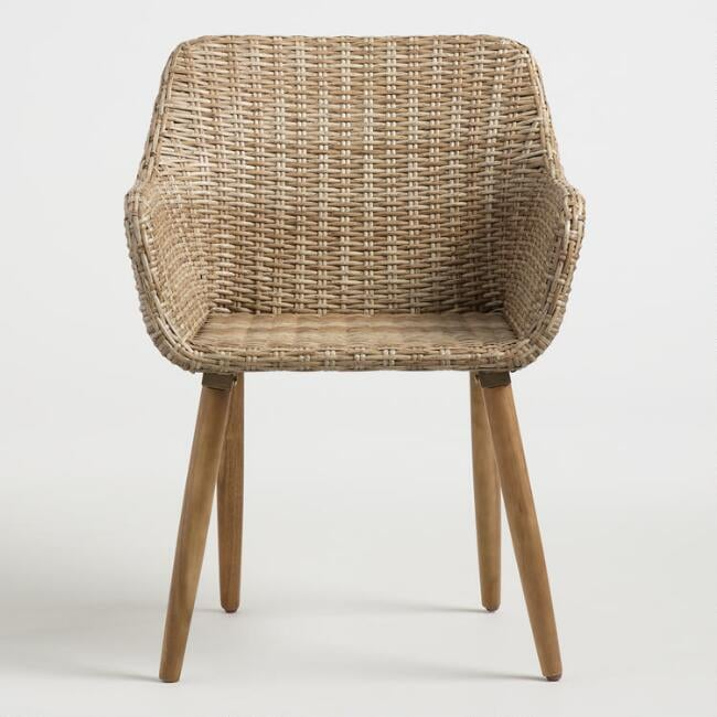 Natural All Weather Wicker Blanca Outdoor Dining Chair