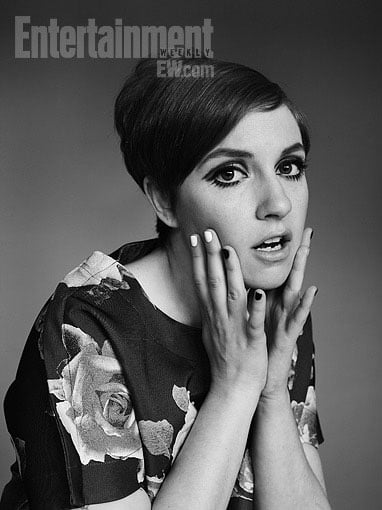 Girls' Lena Dunham's '60s Makeover for Entertainment Weekly