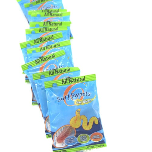 Surf Sweets Sour Worms Singles, 80 ($18)