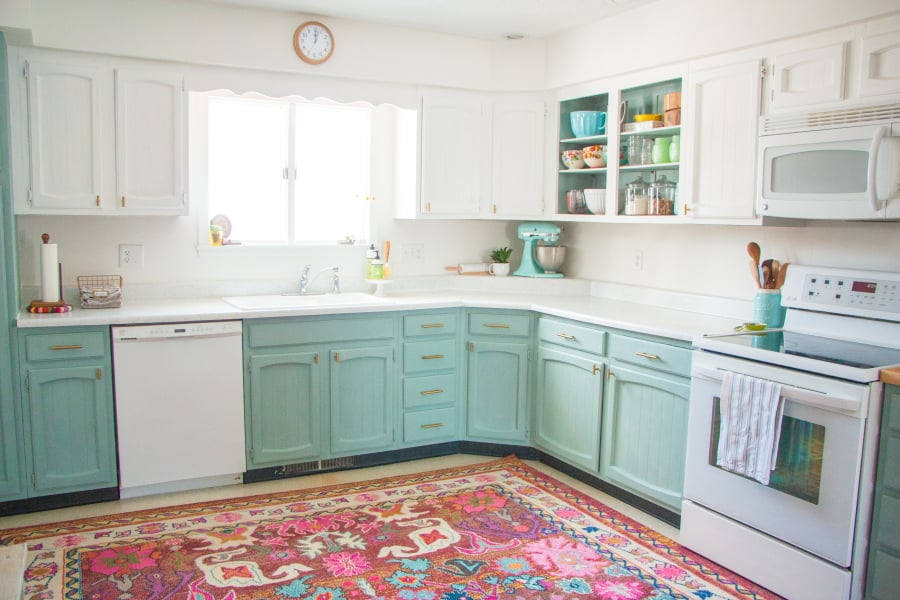 Diy Kitchen Makeover affordable diy home kitchen makeover | popsugar home