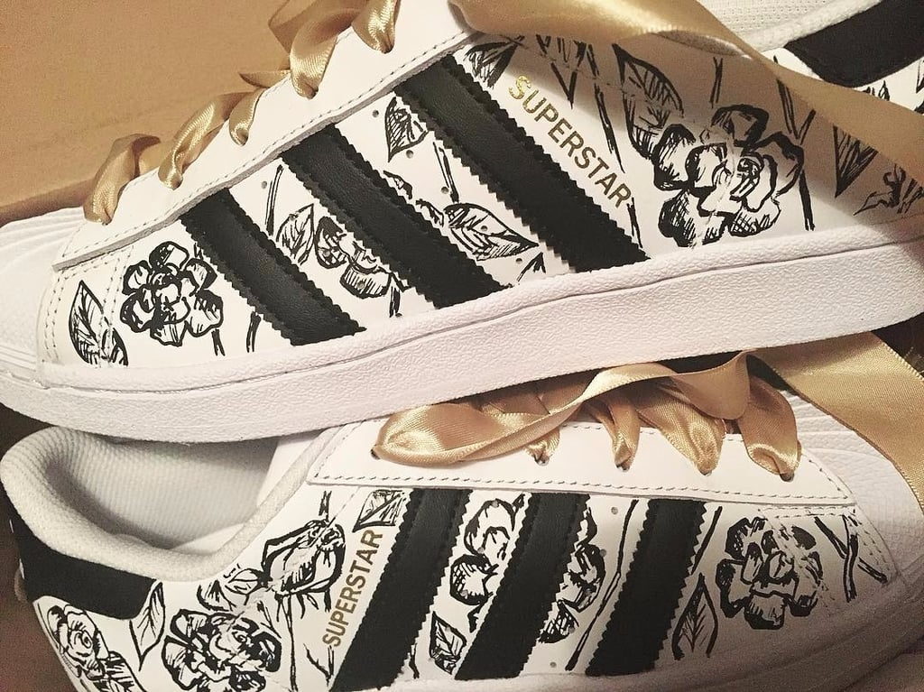 White Sneaker Custom Painting in Dubai