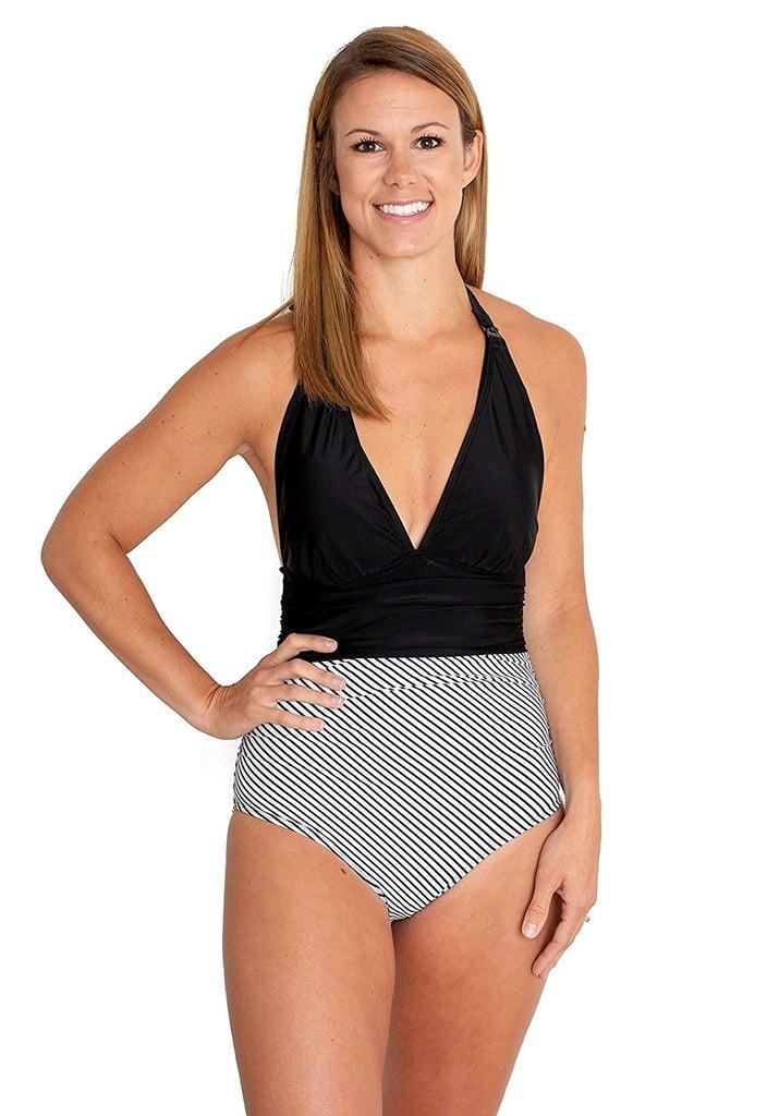 movemama Nursing One Piece Halter Swimsuit
