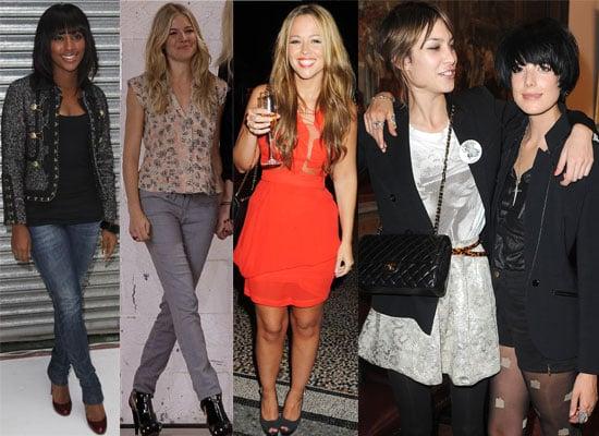 Celebrities At London Fashion Week Spring 2010