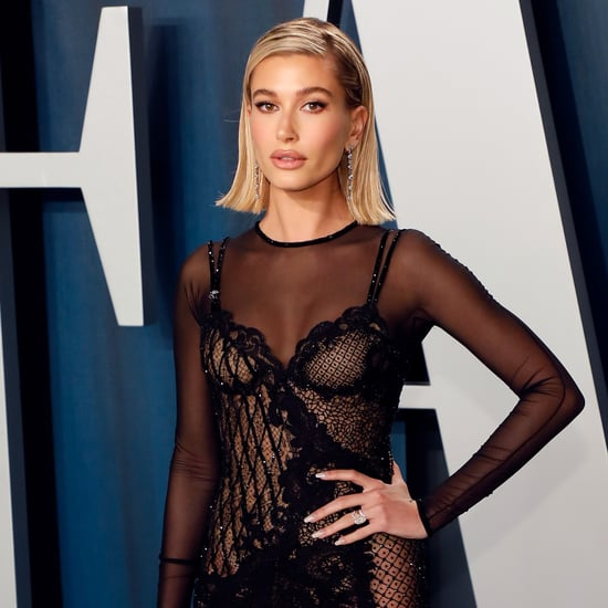 Hailey Baldwin's Negative Space Nail Art