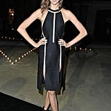 Karlie Kloss donned one of Alexander Wang's sultry Spring '13 LBDs to the Carine Roitfeld for MAC party.