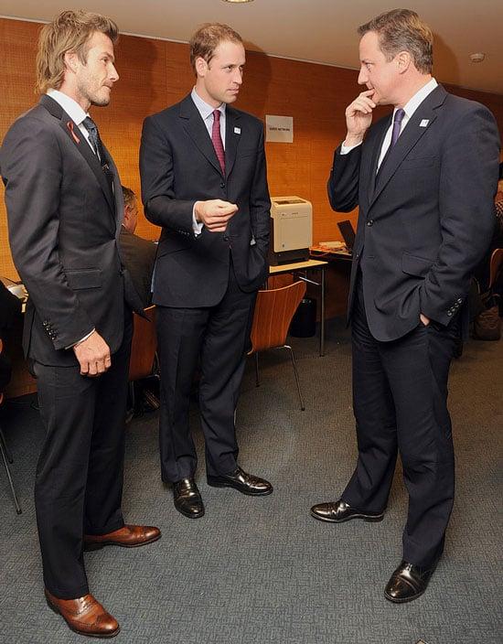 Pictures of David Beckham, David Cameron, Prince William in Zurich for England World Cup 2018 Bid