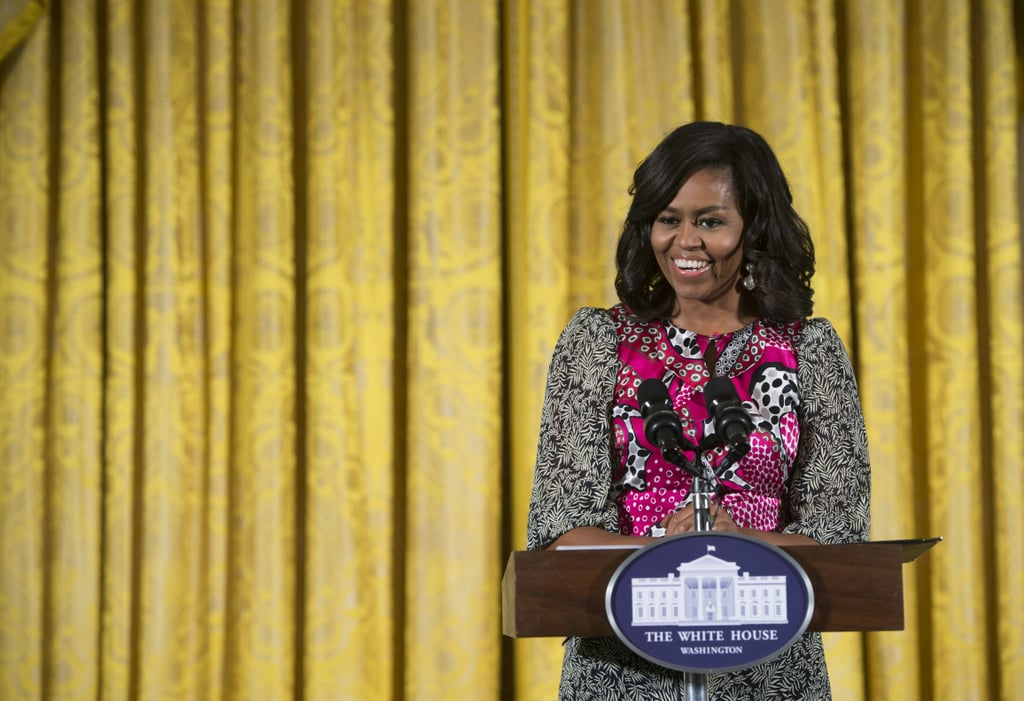Michelle Obama Wore a Printed Dress to Brighten Your Day