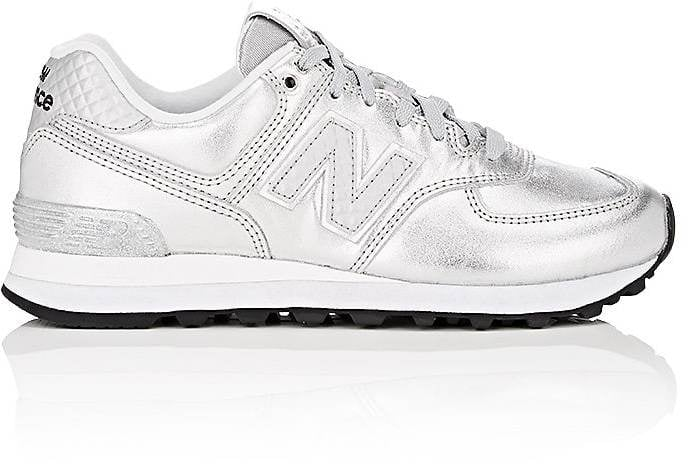 new balance silver 574 sneakers