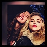 Chloë Grace Moretz made a kissy face for the holiday.