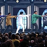 Michael took the stage with the rest of The Jackson 5 at his 30th Anniversary Special show in 2001.