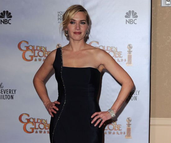 Slide Photo of Kate Winslet in 2010 Golden Globes Press Room