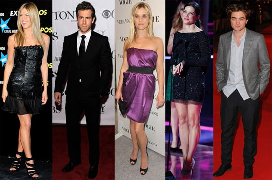 Pictures of Jennifer Aniston, Ryan Reynolds, Reese Witherspoon, Sandra Bullock and Robert Pattinson