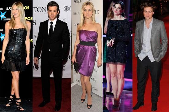 Pictures of Jennifer Aniston, Ryan Reynolds, Reese Witherspoon, Sandra Bullock and Robert Pattinson