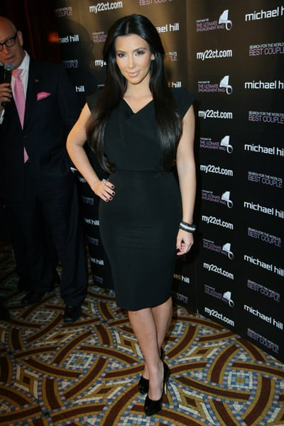 Kim Kardashian isn't afraid to flaunt her bod in minis, but she recently dropped her hemline for a more subtle LBD look.
