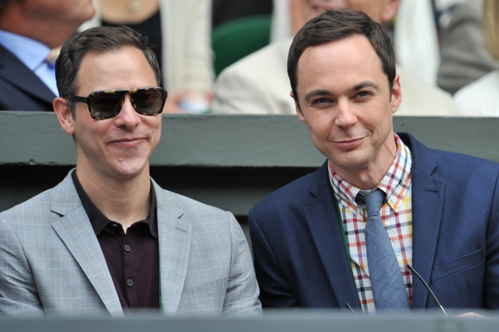 Jim Parsons and partner Todd Spiewak were gleeful.
