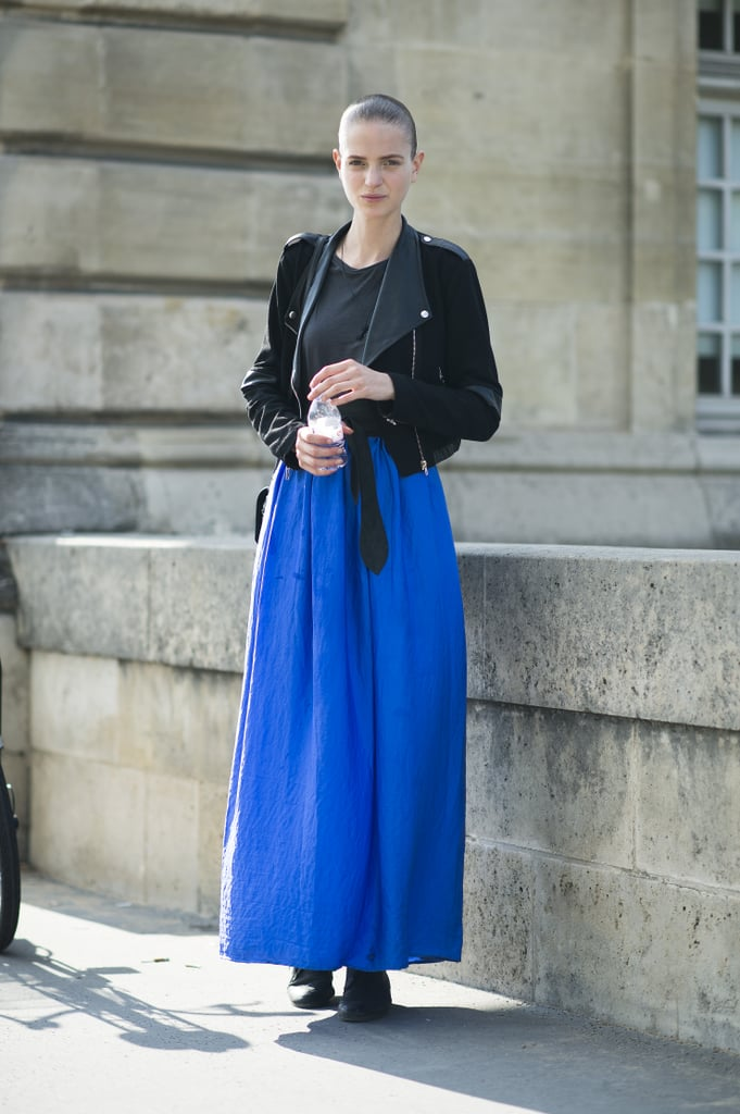 The proof that black and blue were made to wear together. Source: Le 21ème | Adam Katz Sinding