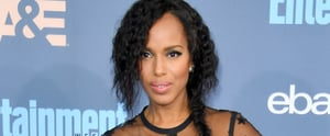 Kerry Washington's Braid and Glittery Nail Art Are the Perfect Holiday Party Pair
