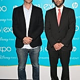 Funny guys B.J. Novak and Jason Schwartzman struck matching poses at the event.