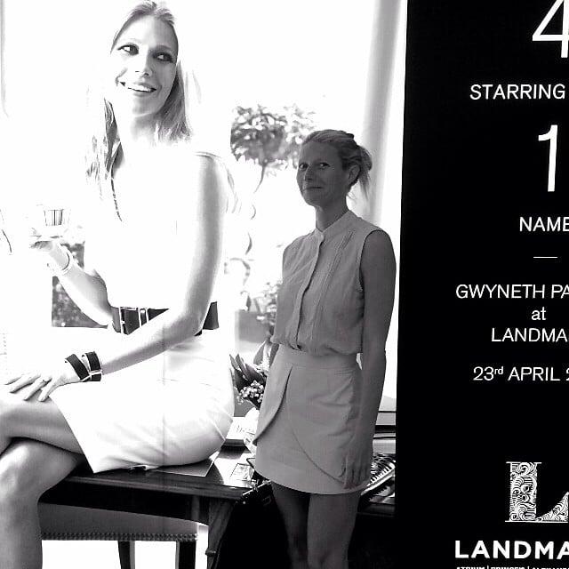 "Gwyneth shared a candid photo on Instagram, writing, ""So . . . this happened #weirdout."" Source: Instagram user gwynethpaltrow"