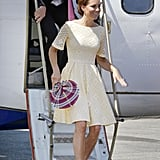 On Tuesday Sept. 18, Kate arrived in Tuvalu wearing a dress by an independent designer.