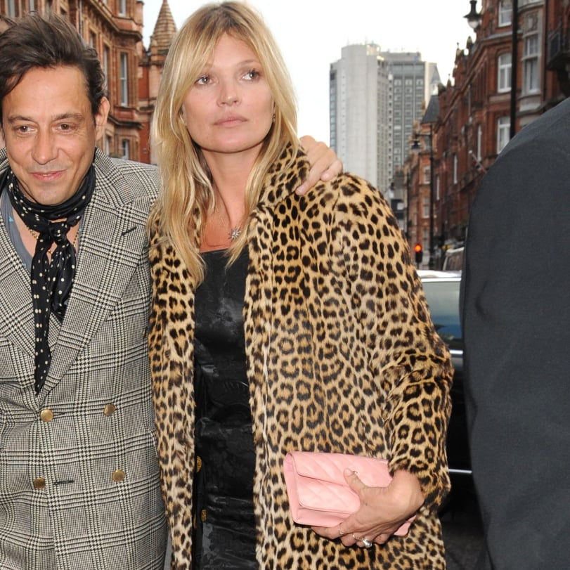 Kate Moss's Leopard Coat 40th Birthday Outfit