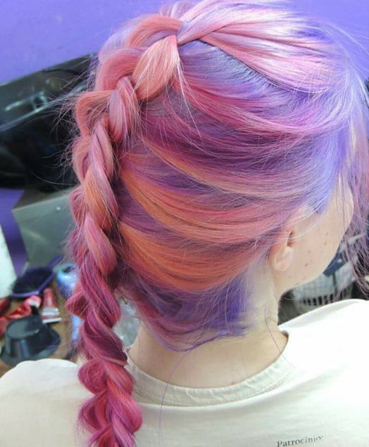 Pink and Purple Plait