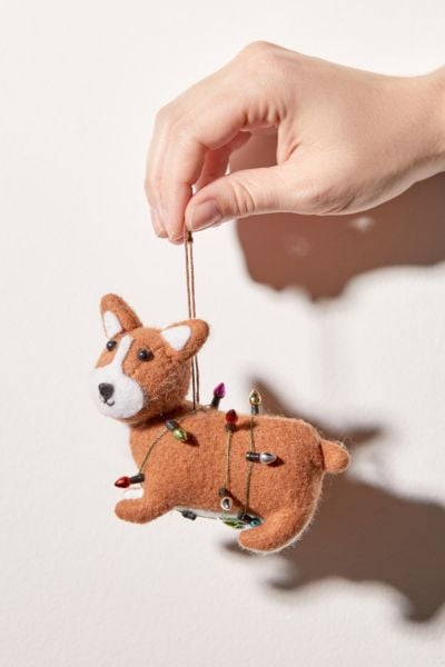 Felt Corgi Christmas Ornament
